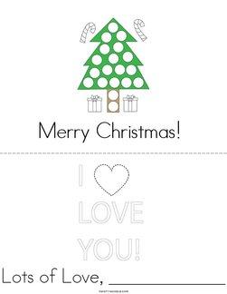 Merry Christmas Card Book