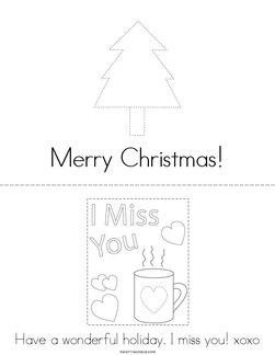 Christmas Card Book