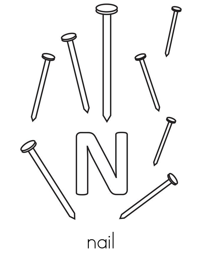 Letter N Book - Twisty Noodle