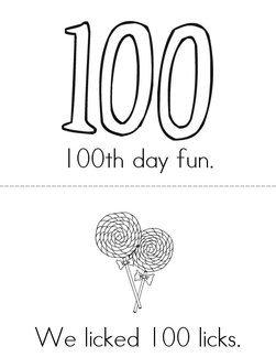 100th day fun Book