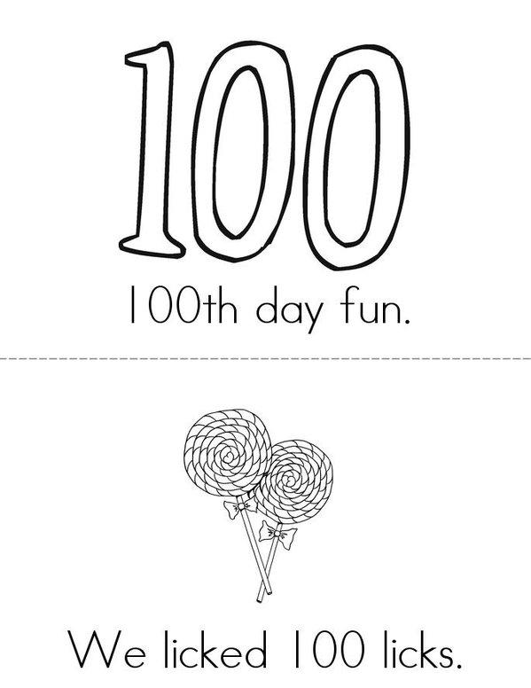 100th day fun Mini Book - Sheet 1