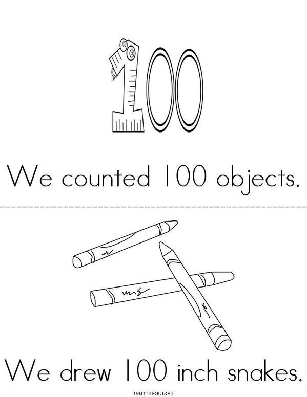 100th day fun Mini Book - Sheet 2