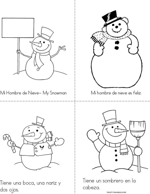 Mi Hombre de Nieve- My Snow Man Mini Book