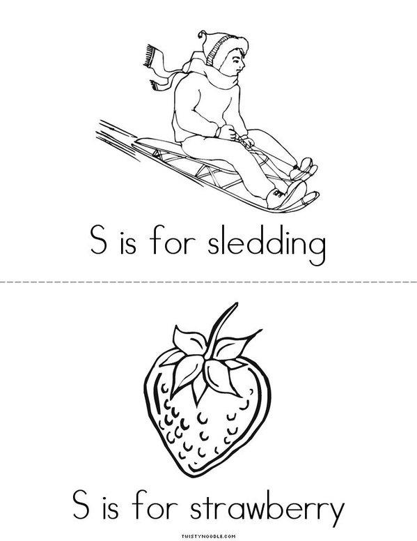 The Letter S Mini Book - Sheet 2