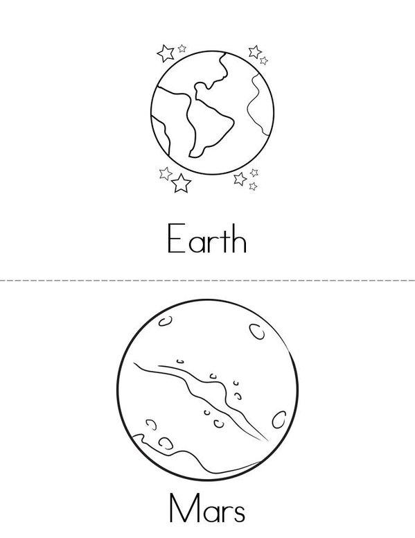 solar system flip book template