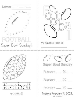 Super Bowl  Sunday Book
