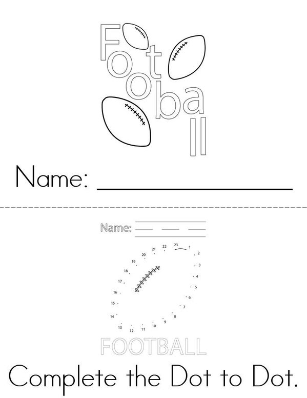 My Super Bowl Activity Book Mini Book - Sheet 1