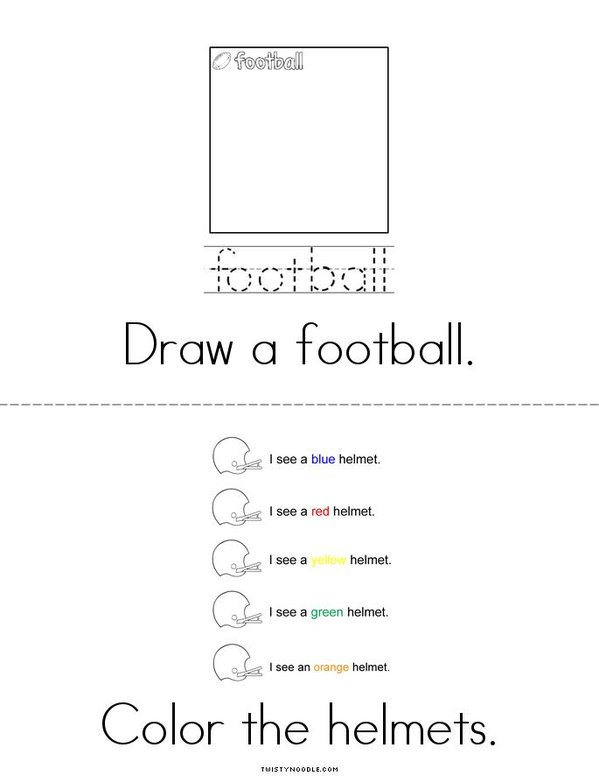 My Super Bowl Activity Book Mini Book - Sheet 3