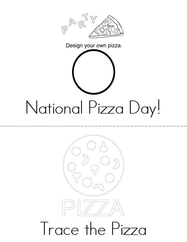 National Pizza Day! Mini Book - Sheet 1