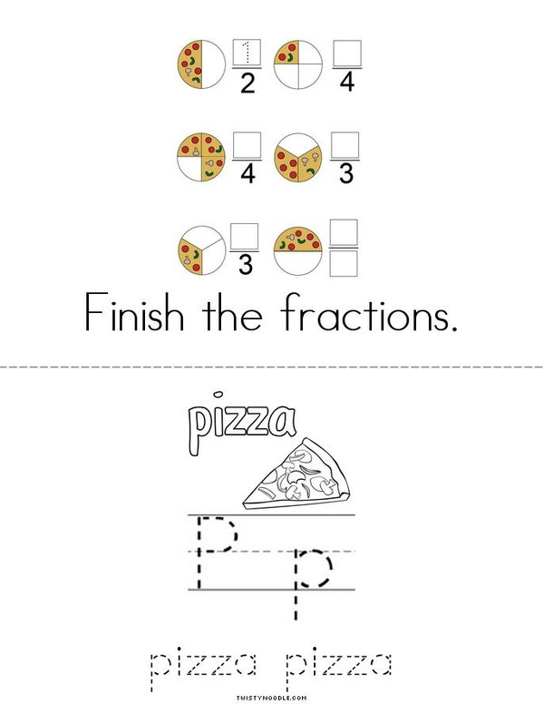 National Pizza Day! Mini Book - Sheet 2