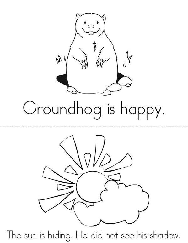 Happy Groundhog Day Mini Book - Sheet 1
