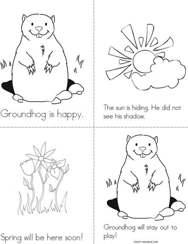 Happy Groundhog Day Mini Book