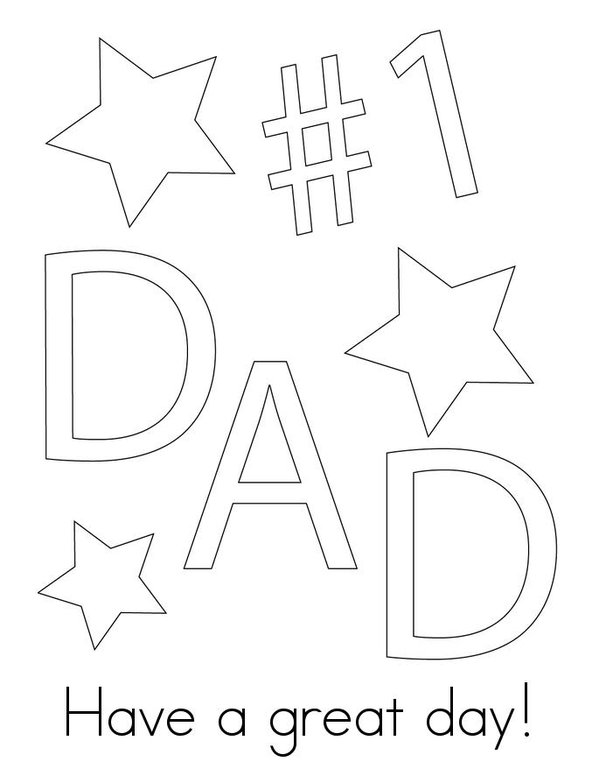 Father's Day Mini Book - Sheet 3