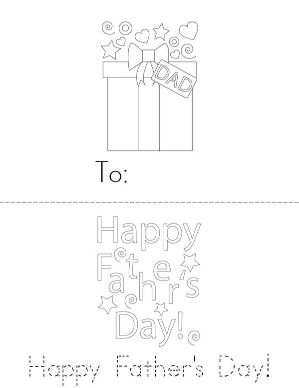Father's Day Mini Book - Sheet 1