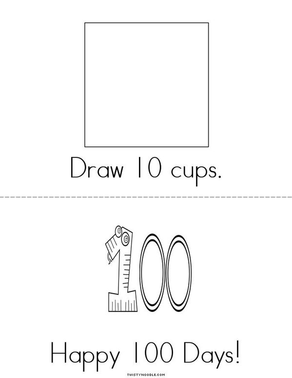 My Book of 100 Things Mini Book - Sheet 6