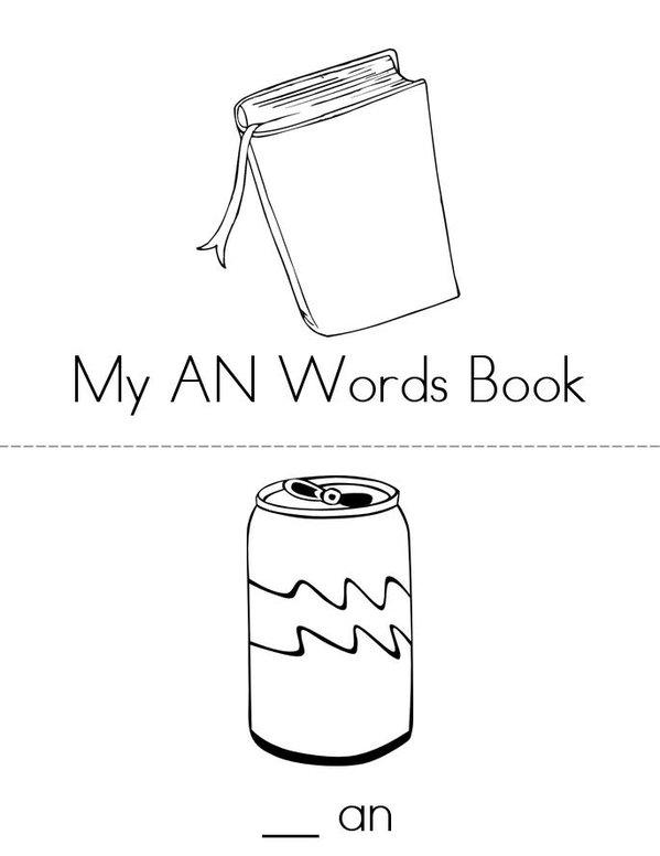 -AN Words Mini Book - Sheet 1