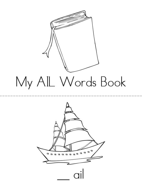 -AIL Words Mini Book - Sheet 1