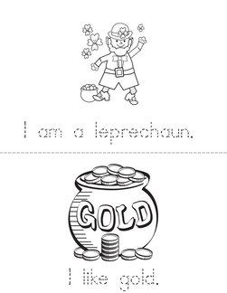 My St. Patrick's Day Leprechaun Book