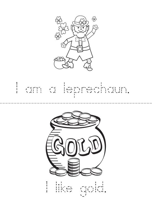 My St. Patrick's Day Leprechaun Mini Book - Sheet 1