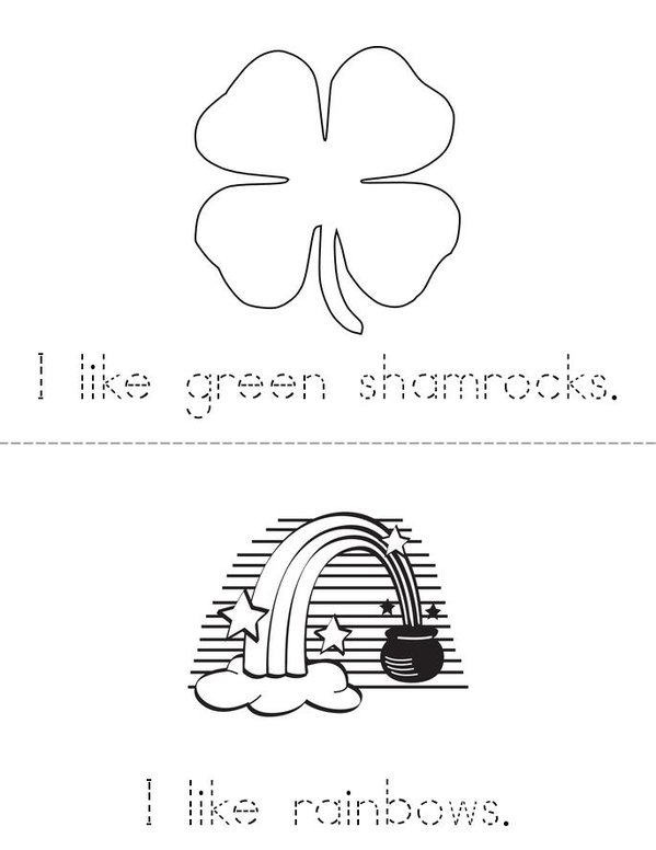 My St. Patrick's Day Leprechaun Mini Book - Sheet 2