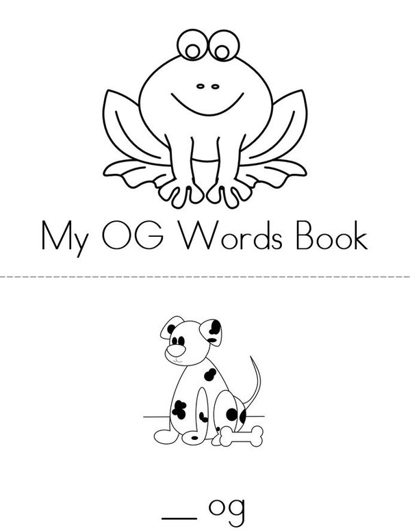 -OG Words Mini Book - Sheet 1