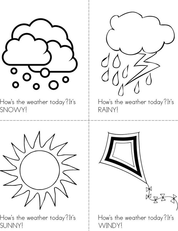 How's the weather Mini Book - Sheet 1
