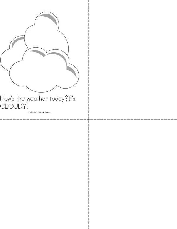 How's the weather Mini Book - Sheet 2