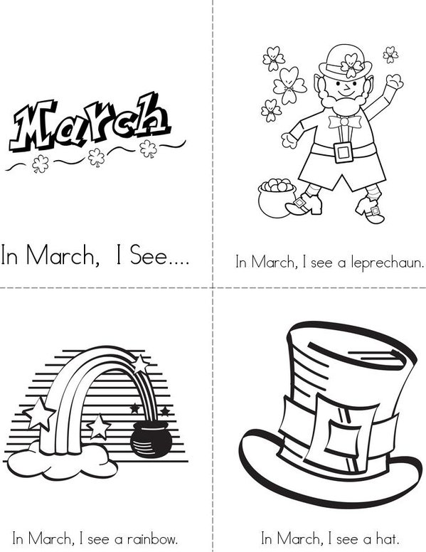 In March Mini Book - Sheet 1