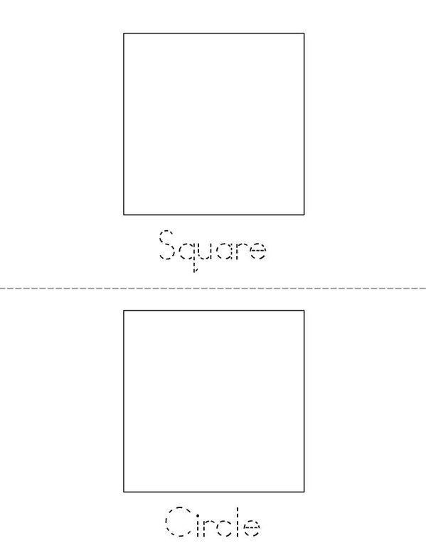 I know my shapes! Mini Book - Sheet 1