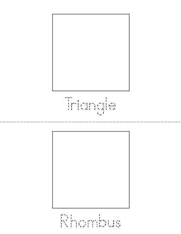 I know my shapes! Mini Book - Sheet 2