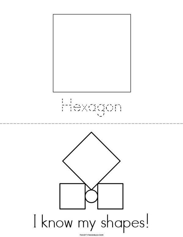 I know my shapes! Mini Book - Sheet 3