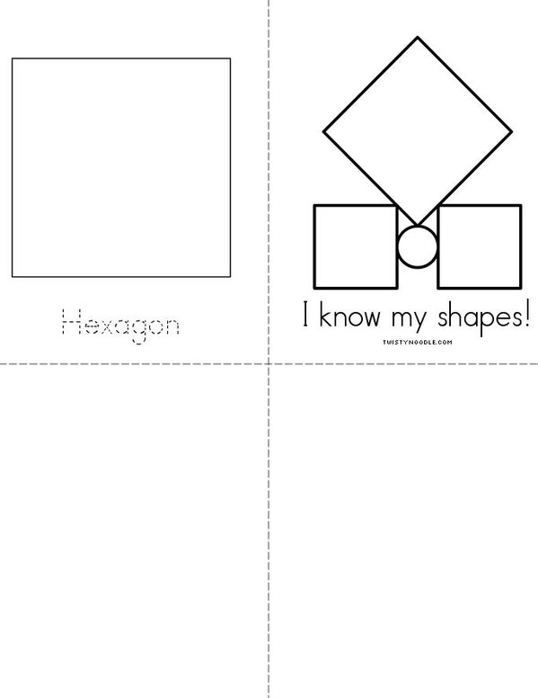 I know my shapes! Mini Book - Sheet 2