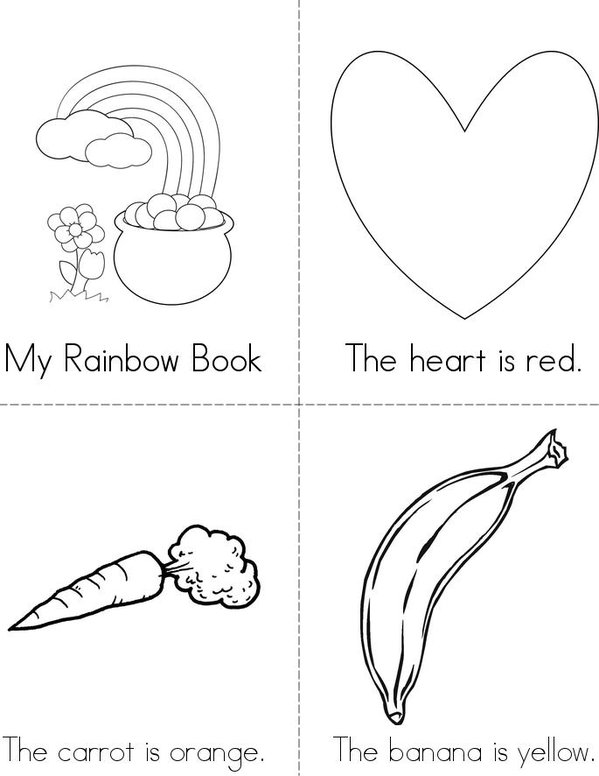 My Rainbow Book Mini Book - Sheet 1