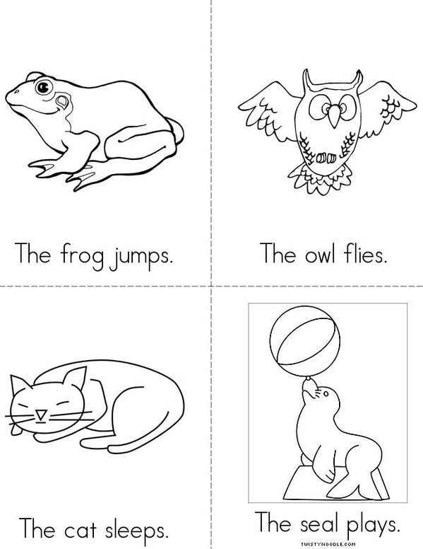 Animal Actions Mini Book - Sheet 2