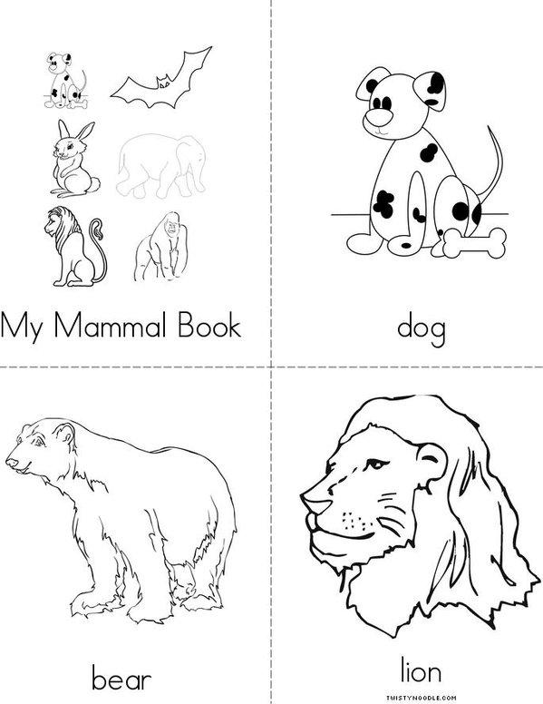 My Mammal Book Mini Book