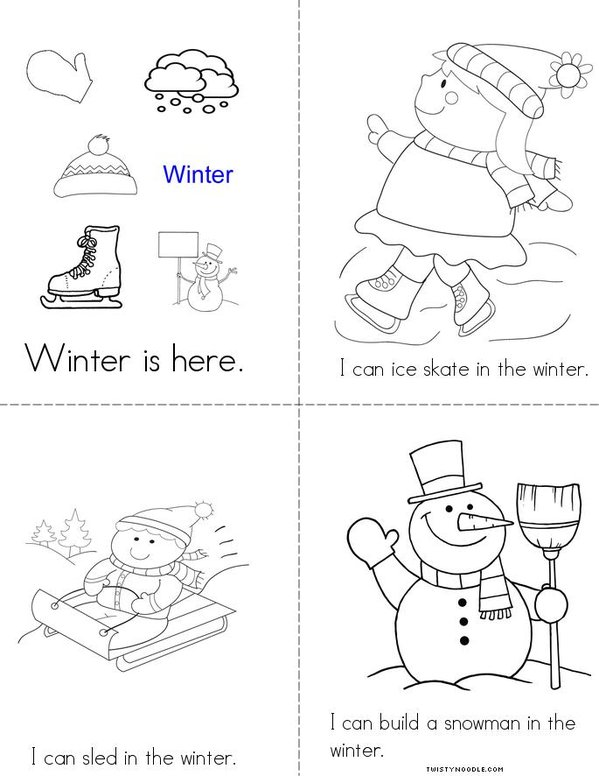 winter clothes coloring pages activities - photo#20