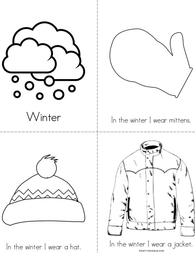 Make Your Own >> Winter Clothes Book - Twisty Noodle