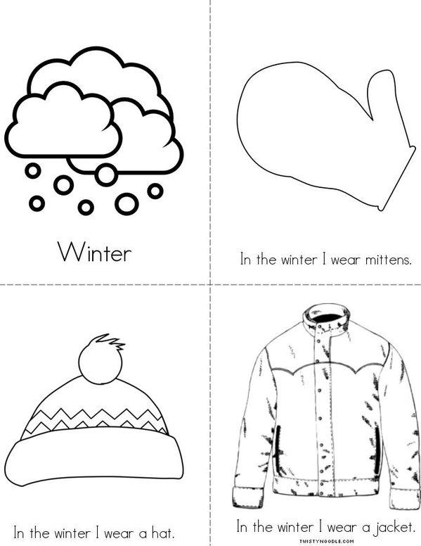 Winter Clothes Mini Book