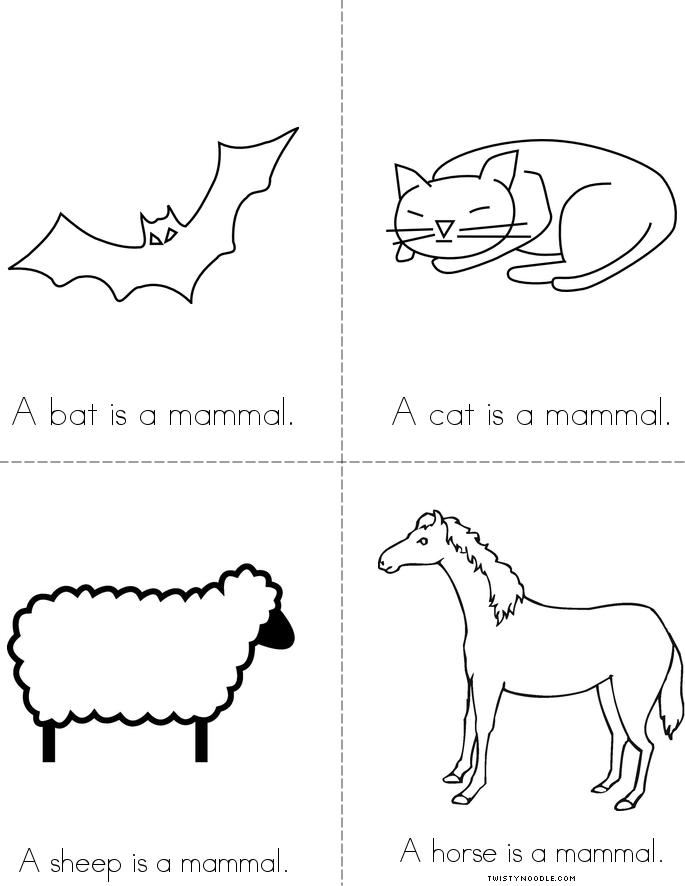 mammals coloring pages - photo#3