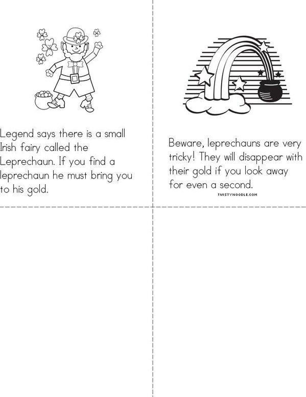 St. Patrick's Day Mini Book - Sheet 2