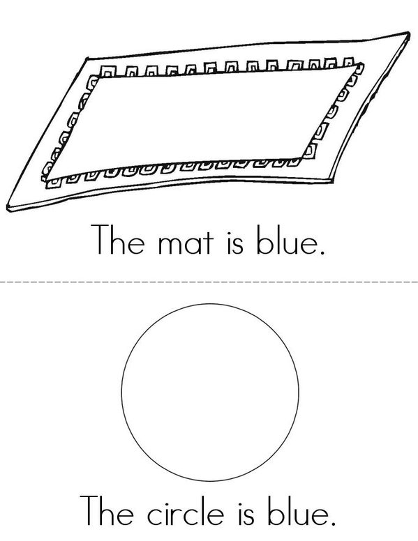 Blue Mini Book - Sheet 2