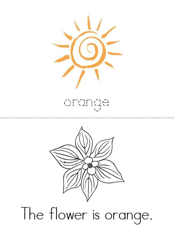 Orange Mini Book - Sheet 1
