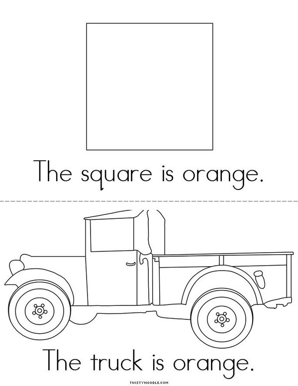 Orange Mini Book - Sheet 3