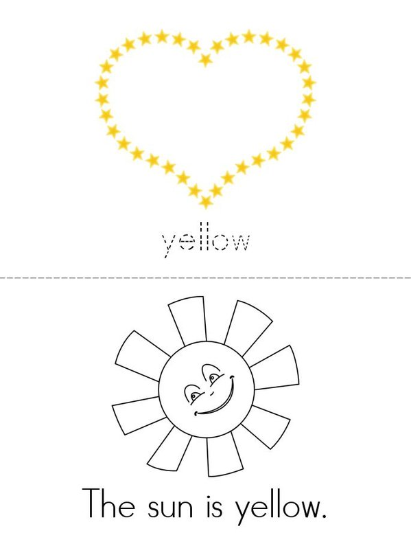 Yellow Mini Book - Sheet 1
