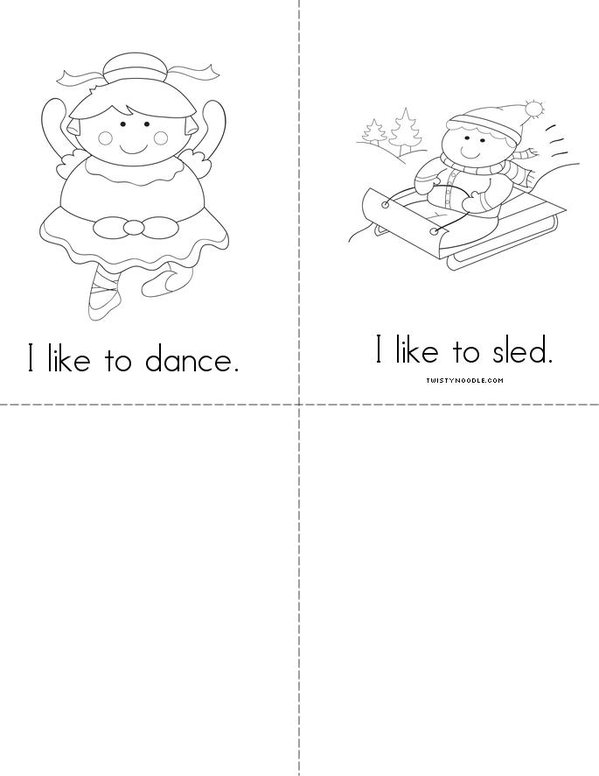 I like to... Mini Book - Sheet 2