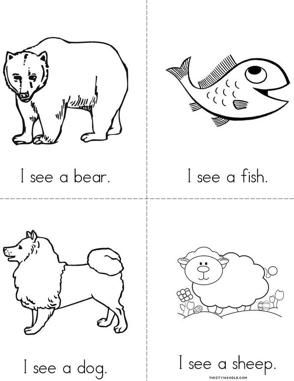 word sight see see Noodle (animals) books Twisty Book
