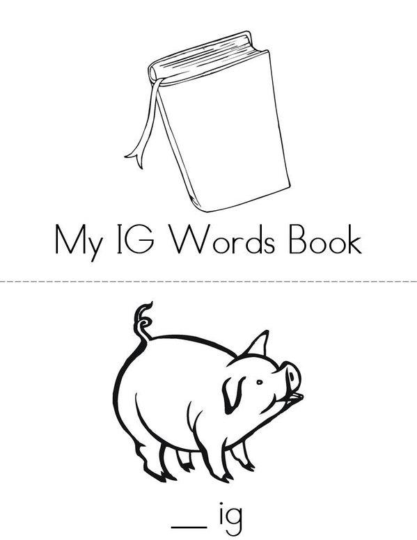 -IG Words Mini Book - Sheet 1