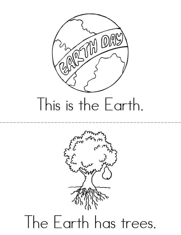 Earth Day Book Mini Book - Sheet 1
