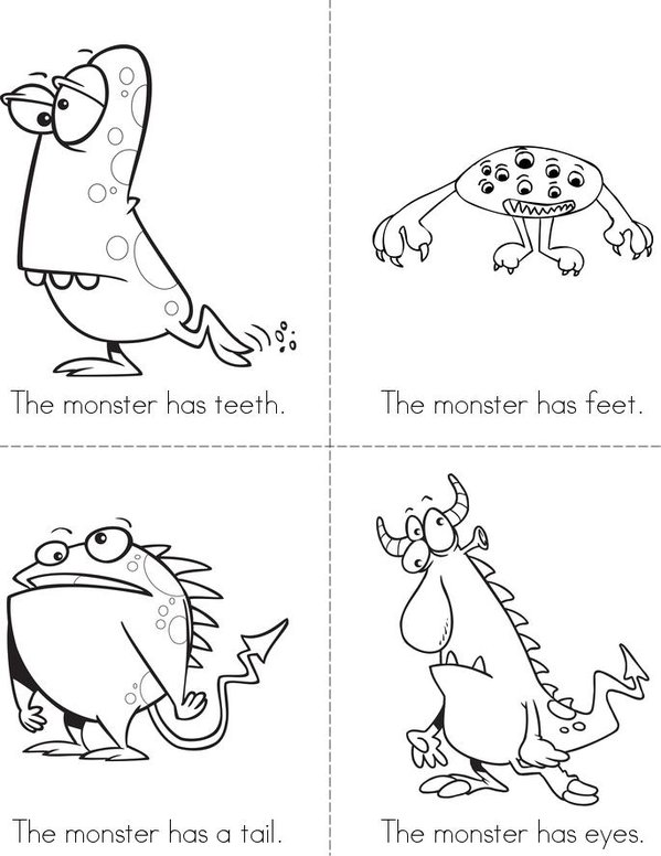 Monsters Mini Book - Sheet 1