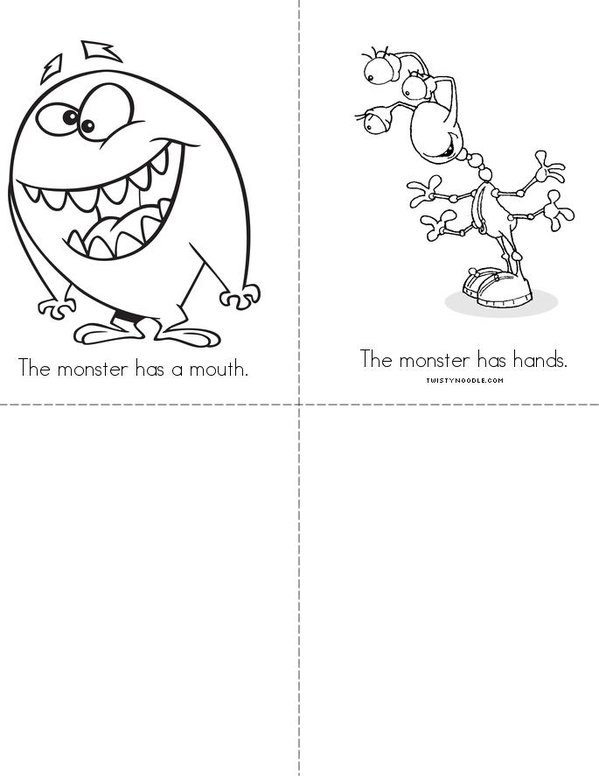 Monsters Mini Book - Sheet 2